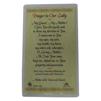 Image for Prayer To Our Lady Prayer Card, Single Card