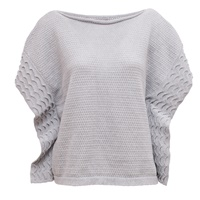 Image for Cotton Boat Neck Sweater Mist