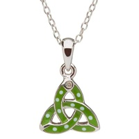 Image for Little Miss Diamond Trinity Knot Pendant, Green