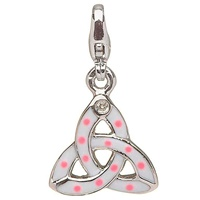 Image for Little Miss Diamond Trinity Knot Charm, Pink