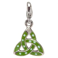 Image for Little Miss Diamond Trinity Knot Charm, Green