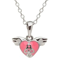 Image for Little Miss Trinity Diamond Heart Pendant, Pink