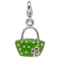 Image for Little Miss Shamrock Diamond Purse Charm, Green