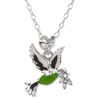 Image for Little Miss Diamond Trinity Dove Pendant, Green