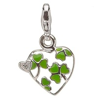 Image for Little Miss Diamond Shamrock Heart Charm