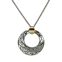 Image for Keith Jack Comet Pendant Sterling Silver and Gold Bale