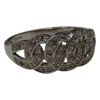 Image for 14k White Gold Diamond set Celtic Ring