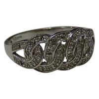 Image for 14k White Gold Diamond set Celtic Ring