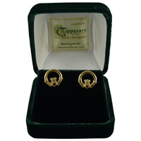 Image for Claddagh Post Earrings 10CT Gold