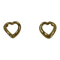 Image for Wave Heart Earrings