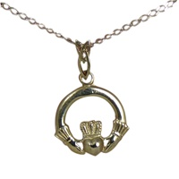 Image for Claddagh Pendant with Trinity Bail