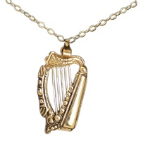 Image for Harp Pendant 10K Yellow Gold