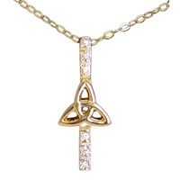 Image for Trinity with Diamond Pendant 10K Yellow Gold