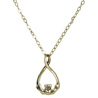 Image for Teardrop Claddagh Pendant 10K Yellow Gold