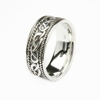 Image for Shanore Silver Celtic Knotwork Gents Ring