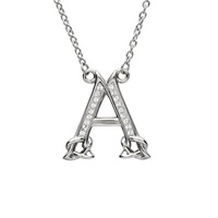 Image for Sterling Silver Swarovski Initial A Pendant