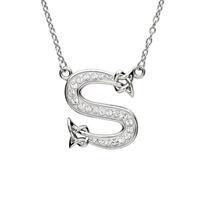 Sterling Silver Swarovski Initial S Pendant