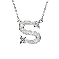 Image for Sterling Silver Swarovski Initial S Pendant