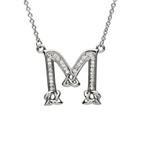 Image for Sterling Silver Swarovski Initial M Pendant