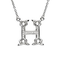 Image for Sterling Silver Swarovski Initial H Pendant