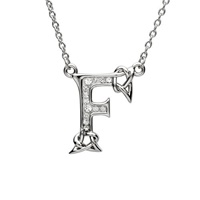 Image for Sterling Silver Swarovski Initial F Pendant