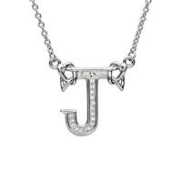 Sterling Silver Swarovski Initial J Pendant