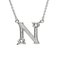 Image for Sterling Silver Swarovski Initial N Pendant