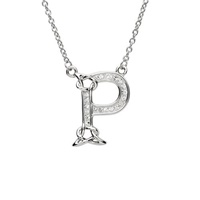 Image for Sterling Silver Swarovski Initial P Pendant