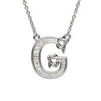 Sterling Silver Swarovski Initial G Pendant