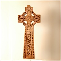 Image for Handcarved Standing Wooden Celtic Cross