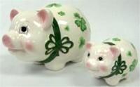 """Image for 6.5"""" Shamrock Pig Bank"""