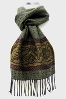 Image for Calzeat Celtic Dogs Jacquard Scarf Spruce