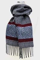 Image for Calzeat Celtic Border Jacquard Scarf, Nordic Grey