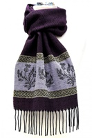 Image for Celtic Alba Thistle Jacquard Scarf, Purple