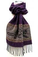 Image for Celtic Beastie Cat Jacquard Scarf