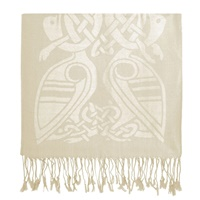 Image for Luxurious Wool Scarf, White