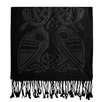 Image for Luxurious Wool Scarf, Black
