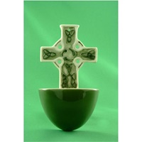 Image for Bone China and Ceramic Waterfont Small Celtic Cross