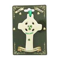 Image for Fine Bone China Celtic Cross Hanging Ornament
