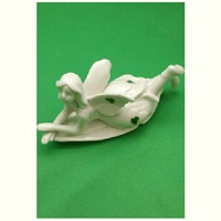 Image for Fairy On Leaf Ceramic Ornament