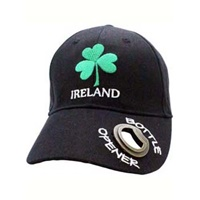 Image for Cotton Shamrock Sports Cap with Bottle Opener