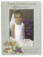 Image for Communion Wood Photo Frame with Easel