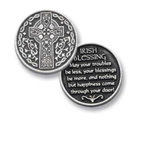 Image for BF Celtic Cross/Irish Blessing Pocket Token