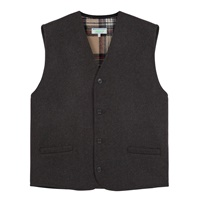 Image for Gents Charcoal Waistcoat with Tartan Interior