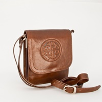 Image for Morrigan Celtic Shoulder Bag, Brown By Lee River
