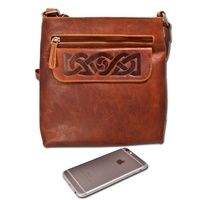 Image for Celtic Embossed Knot Mary Bag, Tan by Lee River