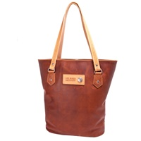 Image for Classic Leather Tote Bag, Tan by Lee River