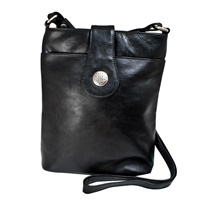 Image for Simple and Classic Leather Torc Bag, Black by Lee River