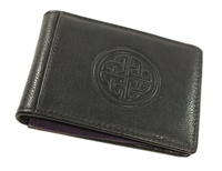 Image for Fergal Leather Money Clip Wallet, Black by Lee River
