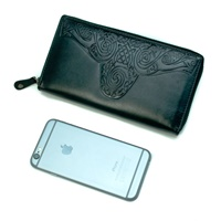 Roisin Ladies Large Leather Wallet, Black by Lee River